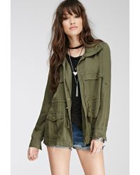 1ad759aea1df4 Forever 21 Classic Utility Jacket in Green - Lyst