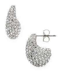 Nadri - Metallic Pave Small J Earrings - Lyst