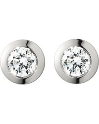 Georg Jensen | Solitare White Gold Diamond Earrings - For Women | Lyst