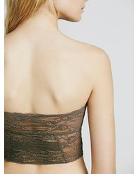 Free People - Green Intimately Womens Cropped Lace Tube - Lyst