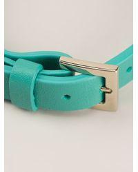Valentino - Green Studded Bracelet - Lyst
