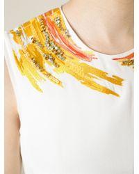 3.1 Phillip Lim - Yellow Brush Stroke Shift Dress - Lyst