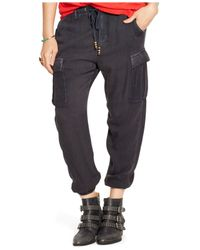 Denim & Supply Ralph Lauren | Green Drawstring Cargo Pants | Lyst