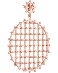 Arme De L'Amour - Pink Rose Gold-Plated Earrings - Lyst