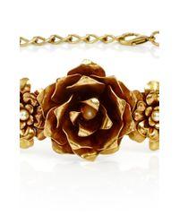 Rodarte - Metallic Antique Honey Rose Belt - Lyst