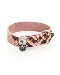 Alexander McQueen | Pink Python Wrap Bracelet | Lyst