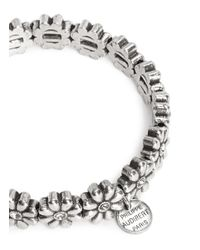 Philippe Audibert - Metallic 'carline' Flower Crystal Bracelet - Lyst