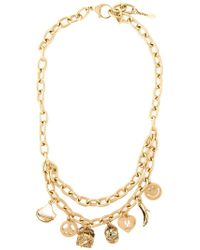 Moschino - Metallic Charm Necklace - Lyst