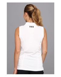 Adidas Originals | White Solid Jersey Sleeveless Polo '15 | Lyst