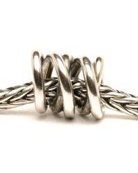 Trollbeads | Metallic Three Siblings Silver Charm Bead | Lyst