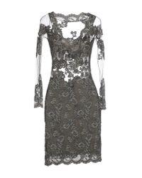 Balensi - Gray Short Dress - Lyst
