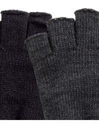 H&M - Black 2-pack Fingerless Gloves for Men - Lyst