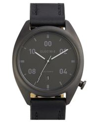 Electric | Black 'ow01' Leather Strap Watch | Lyst