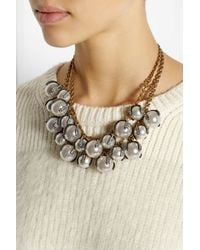 Lulu Frost - Metallic Decade Goldplated Faux Pearl and Crystal Necklace - Lyst