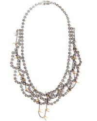 Tom Binns | Gray Scalloped Crystal and Barbed Wire Necklace | Lyst