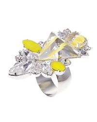 Noir Jewelry | Yellow Cassia Ring | Lyst