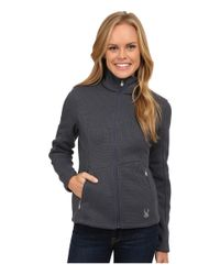 Spyder - Gray Endure Full Zip Mid Weight Core Sweater - Lyst