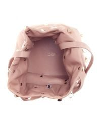 Jimmy Choo - Pink Eve Embellished Leather Bucket Bag - Lyst