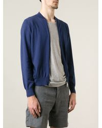 Brunello Cucinelli | Blue Zipup Cardigan for Men | Lyst