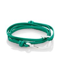 Miansai | Green Silvertone Hook Leather Bracelet | Lyst