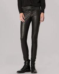 Maje - Black Leggings - Leather & Jersey - Lyst
