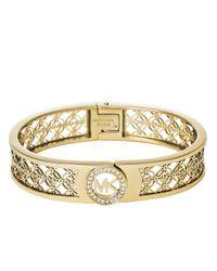 Michael Kors - Metallic Filigree Logo Bracelet - Lyst