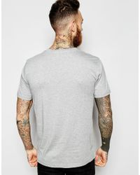 WOOD WOOD - Gray T-shirt With Box Logo Exclusive for Men - Lyst