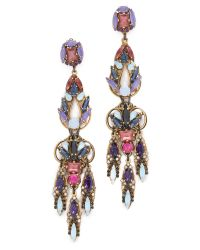 Erickson Beamon | Multicolor Statement Crystal Drop Earrings - Blue Multi | Lyst