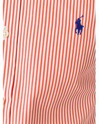 30f404d57c Polo Ralph Lauren Striped Button Down Shirt in Orange for Men - Lyst