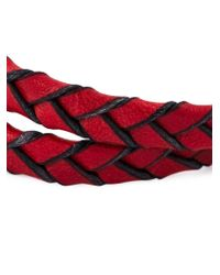 Tod's | Red Braided Two Layer Bracelet for Men | Lyst