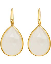 Astley Clarke - Pink Large Moonstone Stilla Drop Earrings - Lyst