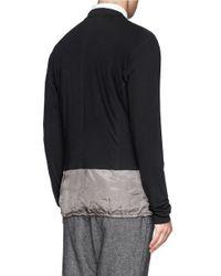 Kolor - Black Contrast Hem Cardigan Blazer for Men - Lyst