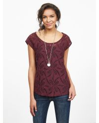Banana Republic | Red Hibiscus Lace Top | Lyst
