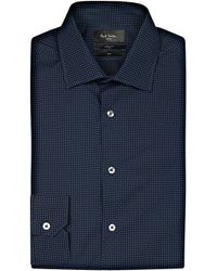 Paul Smith | Black Micro-print Soho-fit Cotton Shirt for Men | Lyst