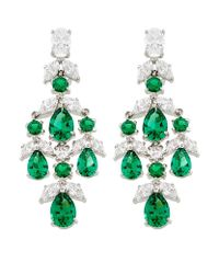 Carat* | Green Aster Drop Earrings | Lyst