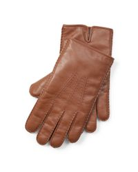 Polo Ralph Lauren - Brown Cashmere-lined Leather Gloves for Men - Lyst