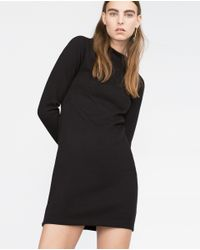 Zara | Black Knit Dress | Lyst