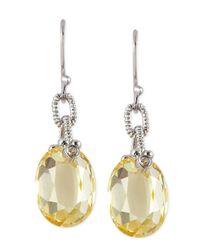 Judith Ripka | Yellow Canary Briollette Earrings | Lyst