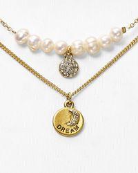 "Sequin - Color Karma White Dream Charm Necklace, 15"" - Lyst"