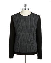 Strellson | Black Slim Fit Wool Sweater for Men | Lyst