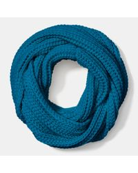 COACH - Blue Solid Chunky Infinity Scarf - Lyst