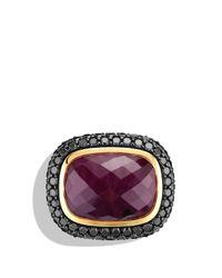 David Yurman | Metallic Waverly Limitededition Ring with Ruby Black Diamonds Gold | Lyst