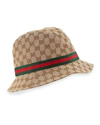 Gucci | Brown Gg Canvas Fedora | Lyst