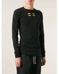 Rick Owens - Black Cut Out Sweater for Men - Lyst