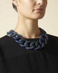 Jaeger - Blue Chunky Chain Necklace - Lyst