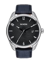 Nixon - Black 'the Bullet' Leather Strap Watch - Lyst