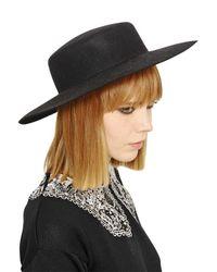 Vivetta | Black Rabbit Fur Felt Wide Brim Hat | Lyst