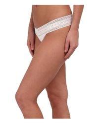 Calvin Klein | White Cotton W/ Lace Thong | Lyst