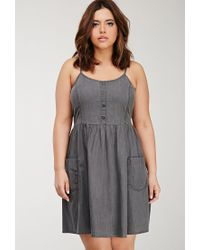 6f797117ef Forever 21. Women s Gray Plus Size Denim Cami Dress You ve Been Added To  The Waitlist