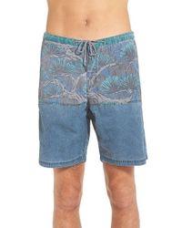 Katin | Blue 'bonsai' Hybrid Shorts for Men | Lyst
